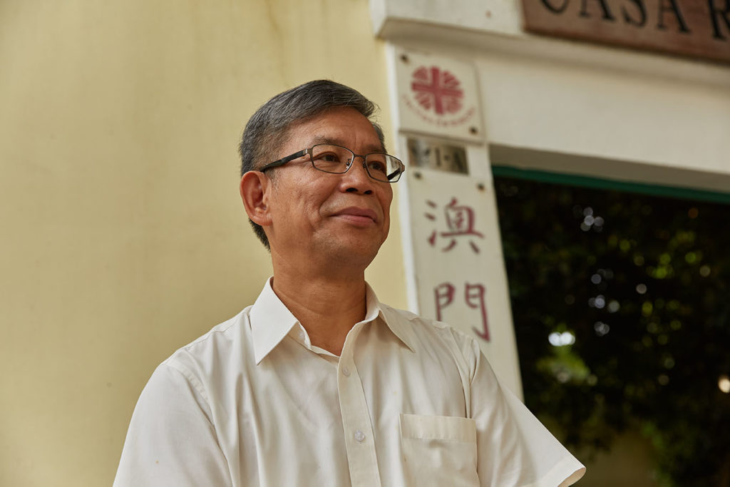 Paul Pun, secretary general of Caritas Macau and president of the Association for the Relief of Refugees