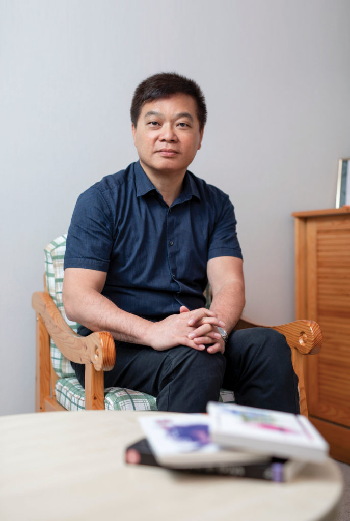Kam Wing Koo, a therapist with the Caritas Family Service who provides counselling to male victims of sexual abuse.