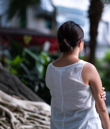 A victim of sexual violence in Hong Kong