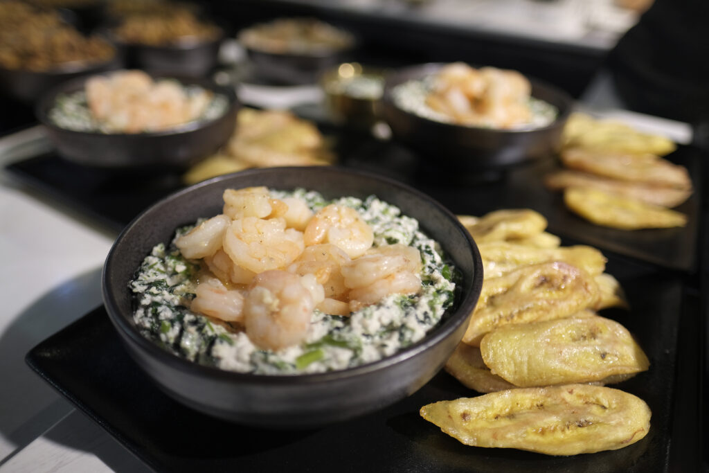 African Soiree Event Serving Beignet Haricots And Fried Plantains Cred Totc Web